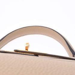 Hermes Beige Togo Leather Gold Hardware Kelly 32 Bag