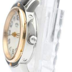 Hermes MOP Rose Gold Plated Stainless Steel Clipper CP1.221 Women's Wristwatch 25 MM