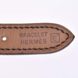 Hermes White Stainless Steel Belt BE1.210 Women's Wristwatch 25 MM