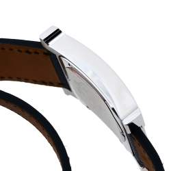 Hermès Black Stainless Steel Leather Wrap Heure H HH1.510 Women's Wristwatch 26 mm