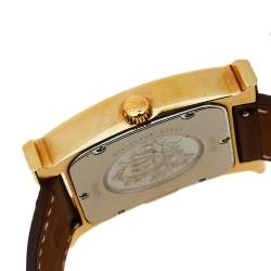 Hermes Gold Plated Stainless Steel Heure H TGM HH1.801 Women's Wristwatch 31 mm