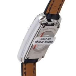 Hermes White Stainless Steel Diamonds Nantucket NA2.132 Women's Wristwatch 17 mm