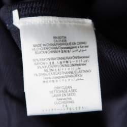 Herve Leger Indigo Cold Shoulder Estelle Bandage Dress S