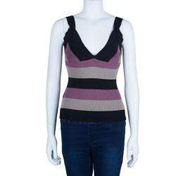 Herve Leger Tricolor Sleeveless Bandage Top S
