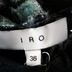 IRO Metallic Blue Fil Coupé Silk Onara Top S