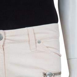 Isabel Marant Etoile Blush Pink Zip Detail Corduroy Pants M