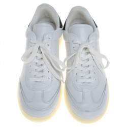 Isabel Marant White/Black Leather Trainers Low Top Sneakers Size 39