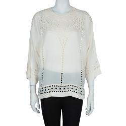 Isabel Marant Etoile White Embriodered Top S