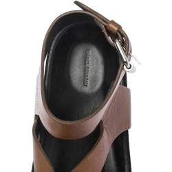 Isabel Marant Brown Leather Elwina Ankle Strap Sandals Size 41