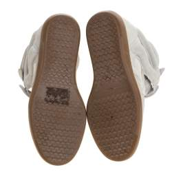 Isabel Marant Grey Suede Bekett Wedge Sneakers Size 37