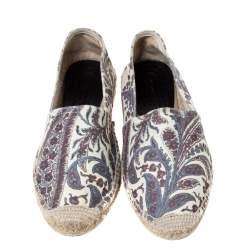 Isabel Marant Multicolor Canvas Espadrille Flats Size 38