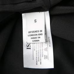 Issa Black Silk Embellished Organza Trim Oversized Tunic S
