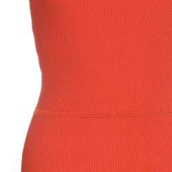 Issa London Blood Orange Ribbed Stretch-Knit Dress S