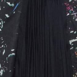 J Mendel Multicolor Printed Crepe Front Pleat Detail Strapless Dress S