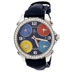 Jacob & Co. Multi-Color Dial Stainless Steel Diamond Five Time Zone Women's Wristwatch 40 mm