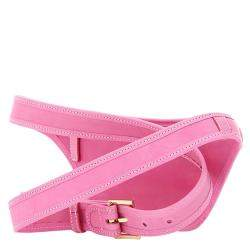 Jacquemus Pink Leather La Banana Logo Plaque Belt Bag