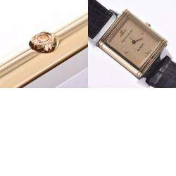 Jaeger-Lecoultre Champagne 18K Yellow Gold And Stainless Steel Mini Reverso 140.106.5 Quartz Women's Wristwatch 15 MM