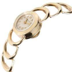 Jaeger-LeCoultre Cream 18K Yellow Gold Vintage Dress Women's Wristwatch 16 MM