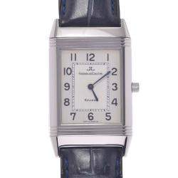 Jaeger Lecoultre Silver Stainless Steel Reverso Classic 250.8.86 Women's Wristwatch 23 MM