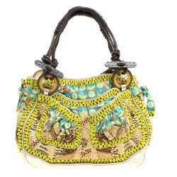 Jamin Puech Multicolor Leather and Fabric Embellished Shoulder Bag