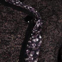 Jean Paul Gaultier Femme Multicolor Textured Wool Blend Jacket M