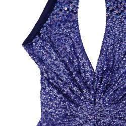Jenny Packham Blue Embellished Gown M