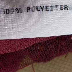 Jenny Packham Red Sequin Embellished Ruffled Sleeve Maxi Dress L