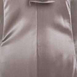 Jil Sander Beige Silk Halterneck Maxi Dress L