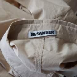 Jil Sander Beige Cotton Coat Style Dress XL