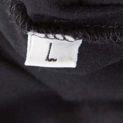 Jil Sander Black Cotton Crew Neck T-Shirt L