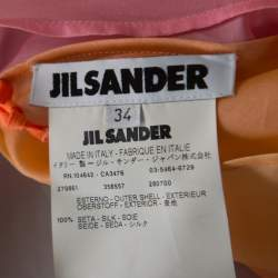 Jil Sander Multicolor Ombre Silk Organza Midi Dress S