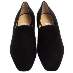 Jimmy Choo Black Suede Jaida Smoking Slippers Size 38