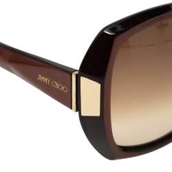 Jimmy Choo Chocolate Brown/ Brown Gradient Gaby Oversized Sunglasses