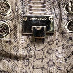 Jimmy Choo Beige Python Riley Hobo