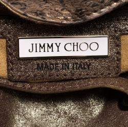 Jimmy Choo Bronze Python Riki Tote