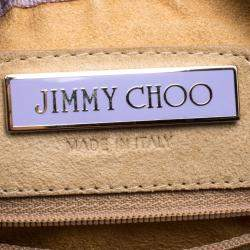 Jimmy Choo Light Brown Suede Swarovski Grant Hobo