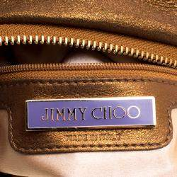Jimmy Choo Metallic Multicolor Sequin Chain Shoulder Bag
