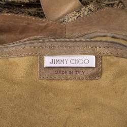 Jimmy Choo Bree Snakeskin Tote