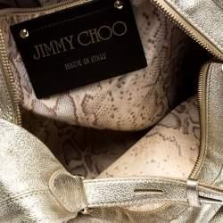 Jimmy Choo Metallic Gold Leather Large Hobo
