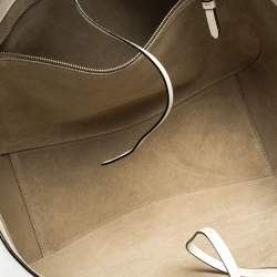 Jimmy Choo White Leather Varenne Tote