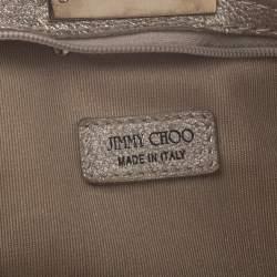 Jimmy Choo Metallic Gold Leather Zulu Clutch