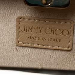 Jimmy Choo Beige Patent Leather Carmen Clutch