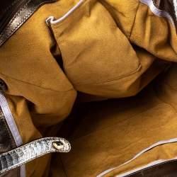 Jimmy Choo Silver Python Ramona Shoulder Bag