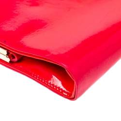 Jimmy Choo Neon Pink Patent Leather Cayla Clutch