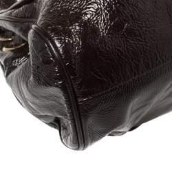 Jimmy Choo Dark Plum Patent Leather Ramona Tote