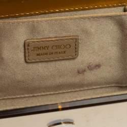 Jimmy Choo Gold/Green Acrylic Candy Chain Clutch