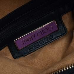 Jimmy Choo Green Python Foldover Clutch