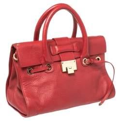 Jimmy Choo Red Leather Rosalie Satchel