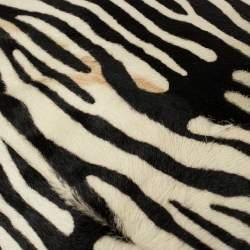Jimmy Choo Black/White Zebra Print Calf Hair and Leather Studded Sky Hobo