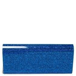 حقيبة كلتش جيم تشو سويتي سلسلة اكريليك غليتر أزرق